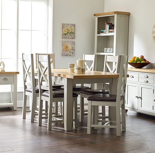 Willow Grey Medium Extending Dining Table