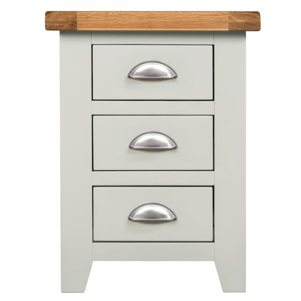 Willow Grey Bedside 3 Drawers