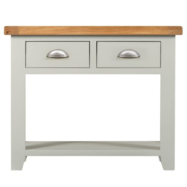 Willow Grey Console Table 2 Drawers