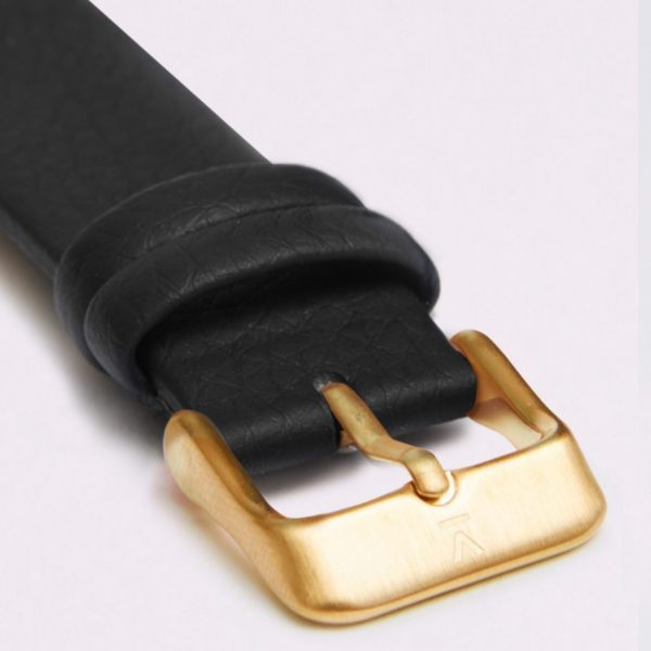 Black With Brushed Gold Buckle | 18MM