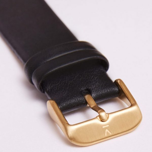 Black With Brushed Gold Buckle | 20MM