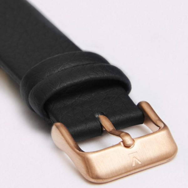 Black With Brushed Rose Gold Buckle | 18MM