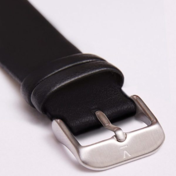 Black With Brushed Silver Buckle | 20MM
