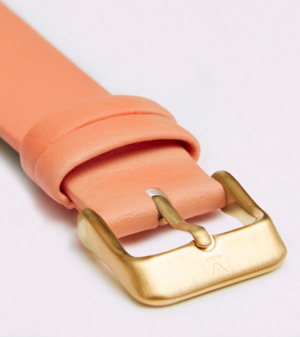 Coral With Brushed Gold Buckle