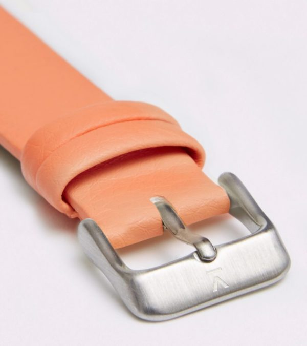 Coral With Brushed Silver Buckle | 18MM