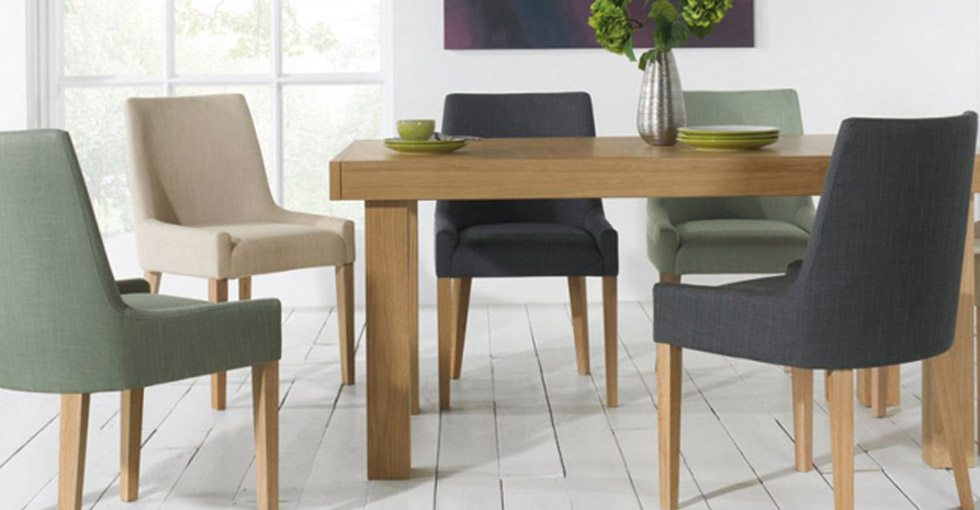 lavish your dining room with elegance using our fabric dining chairs take your pick from neutral colours or be brave and go bold with the vibrant colours
