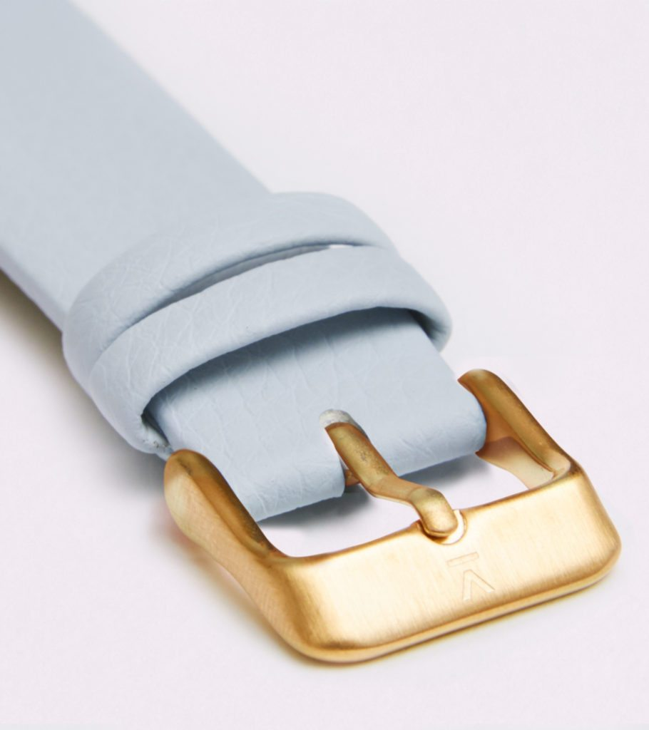 Light Blue With Brushed Gold Buckle