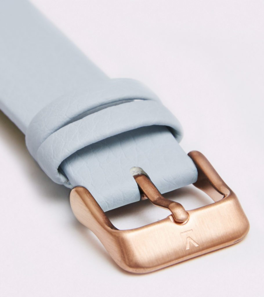 Light Blue With Brushed Rose Gold Buckle | 18MM