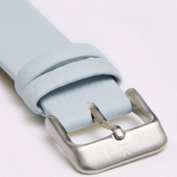 Light Blue With Brushed Silver Buckle | 18MM