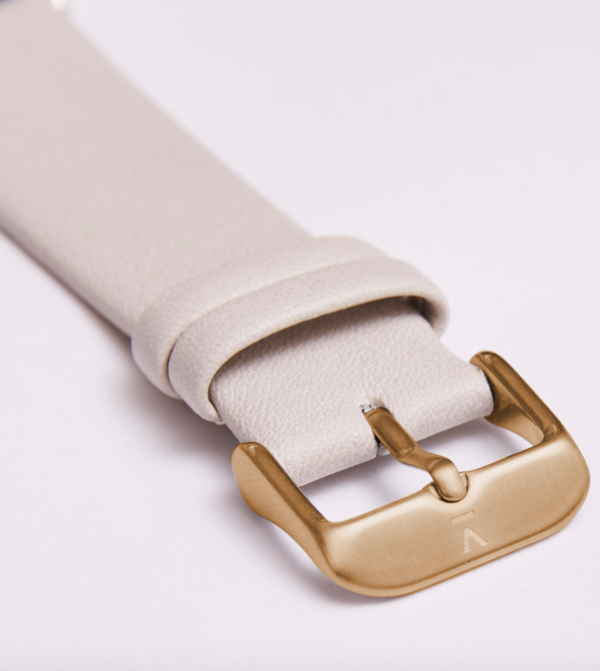 Light Grey With Brushed Gold Buckle | 20MM