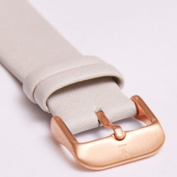 Light Grey With Brushed Rose Gold Buckle | 20MM