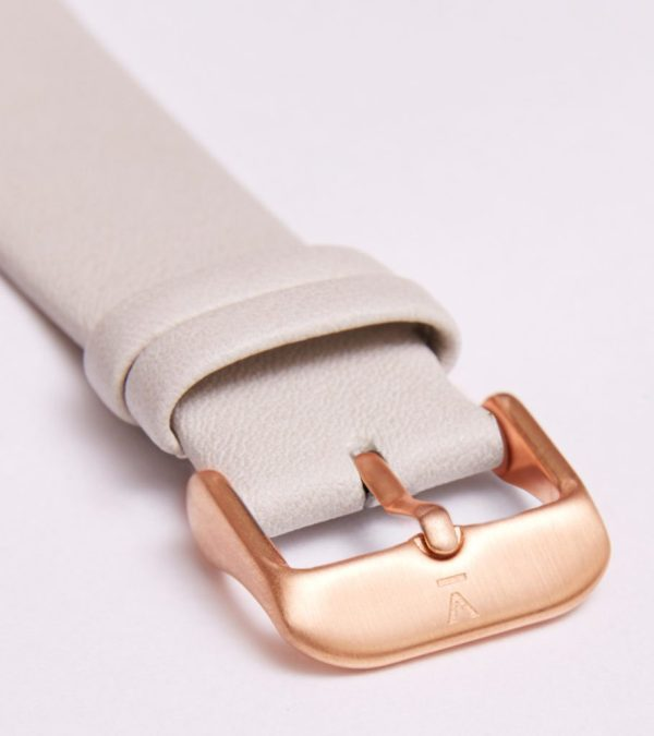Light Grey With Brushed Rose Gold Buckle   20MM