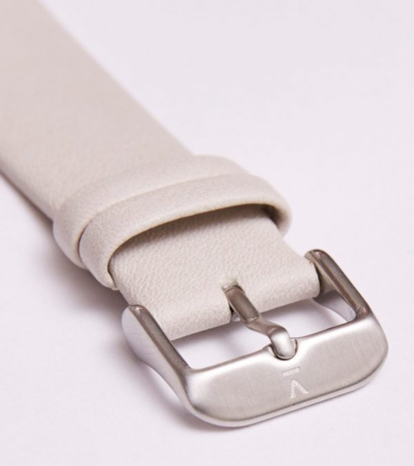 Light Grey With Brushed Silver Buckle | 20MM