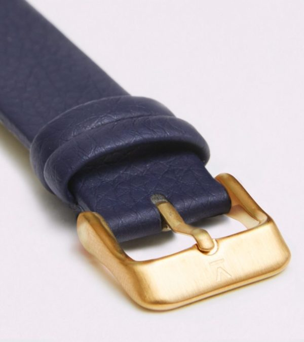 Navy With Brushed Gold Buckle