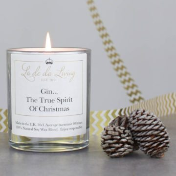 POP Candle – 'Gin...The True Spirit Of Christmas'