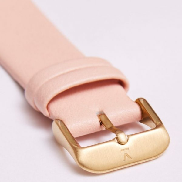 Pink With Brushed Gold Buckle | 20MM