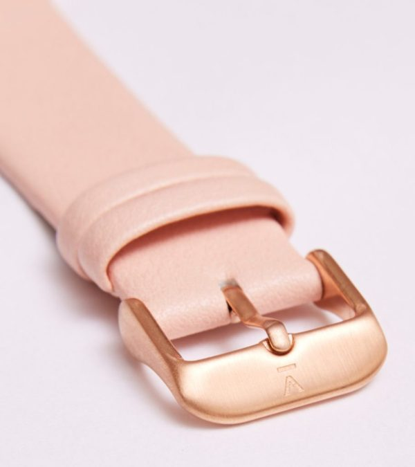 Pink With Brushed Rose Gold Buckle   20MM