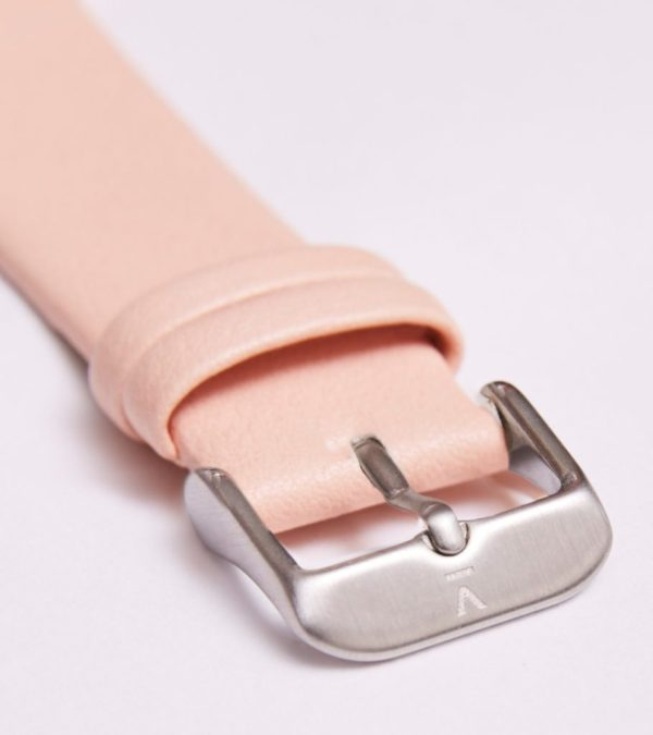 Pink With Brushed Silver Buckle   20MM