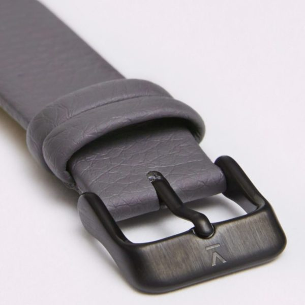 Slate Grey With Brushed Black Buckle | 18MM