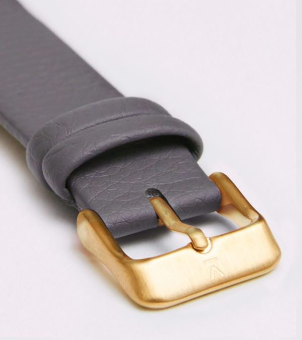 Slate Grey With Brushed Gold Buckle