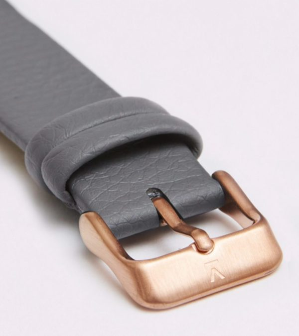 Slate Grey With Brushed Rose Gold Buckle | 18MM