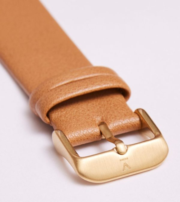 Tan With Brushed Gold Buckle | 20MM