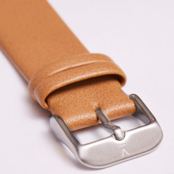 Tan With Brushed Silver Buckle | 20MM