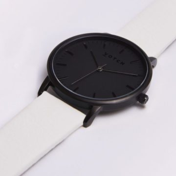 The All Black Face With Off White Strap