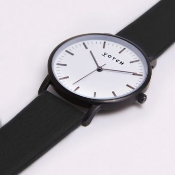 The Black & White Face With Black Strap