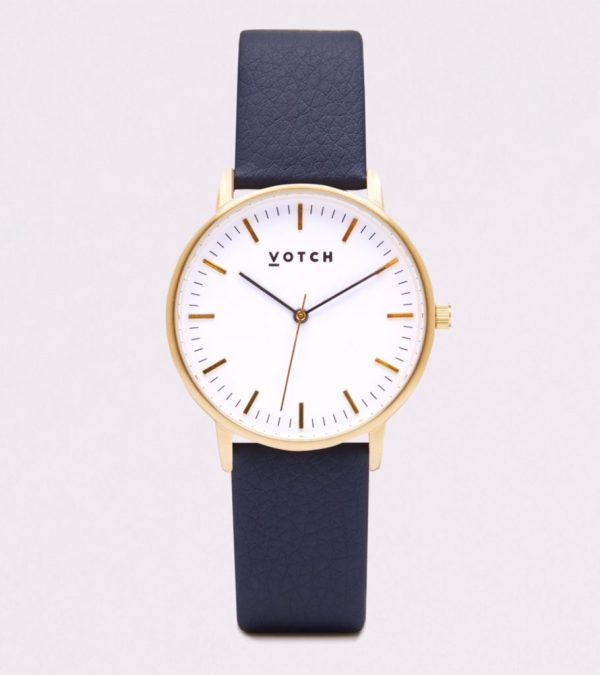 The Gold Face With Navy Strap