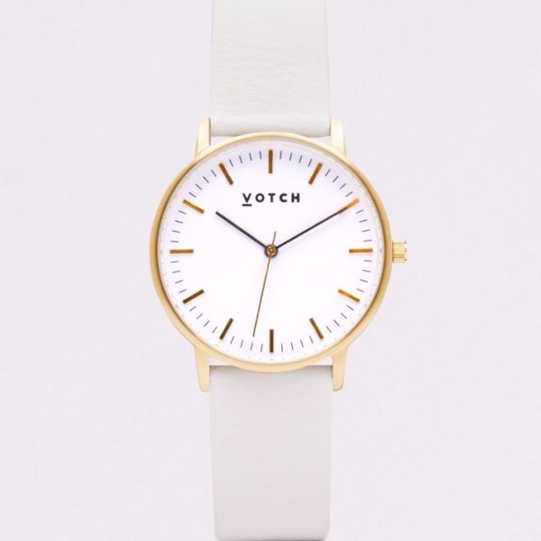 The Gold Face With Off White Strap