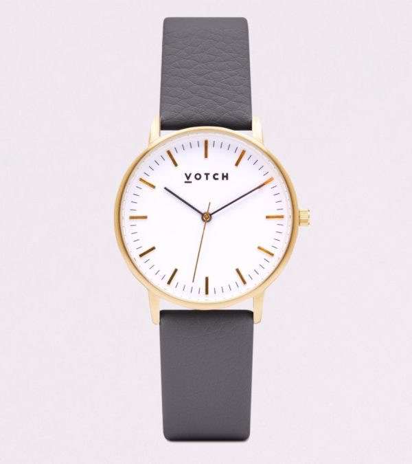 The Gold Face With Slate Grey Strap