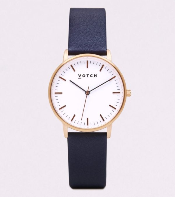 The Rose Gold Face With Navy Strap