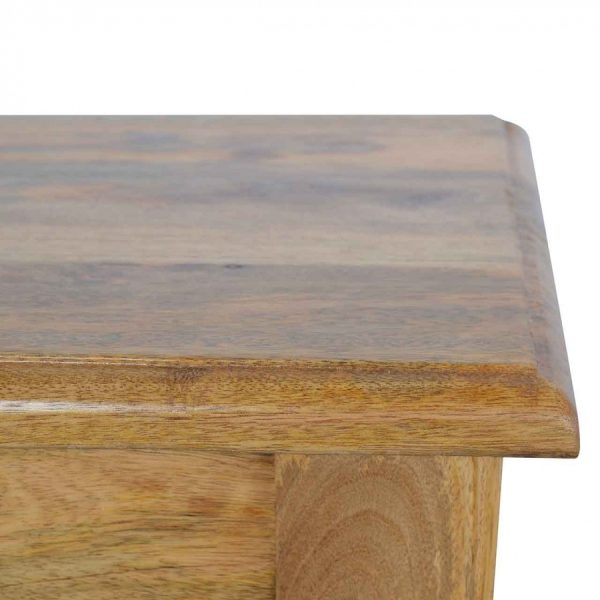 Hand Turned Feet Wooden Bench