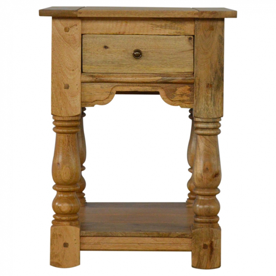 Mango Hill 1 Drawer Bedside Table with Shelf