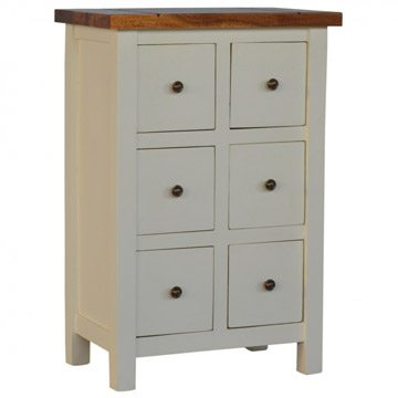 Mango Hill 2 Toned Cabinet with 6 Drawers