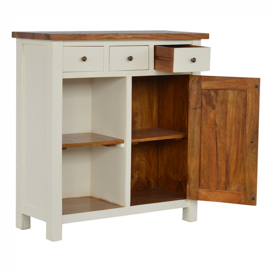 Mango Hill 2 Toned Kitchen Unit With 3 Drawers & 2 Open