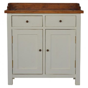 Mango Hill 2 Toned Kitchen Unit with Gallery Back, 2 Drawers & 2 Cabinets