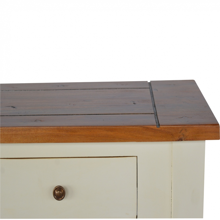 Mango Hill 2 Toned Narrow Console Table with 2 Drawers