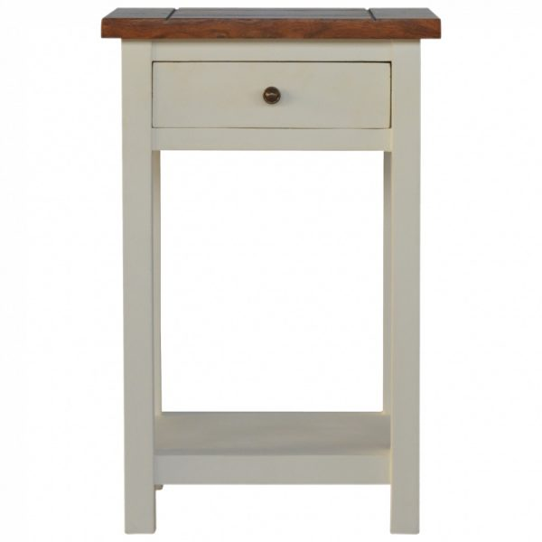 Mango Hill Bedside Table with 1 Drawer & 1 Shelf