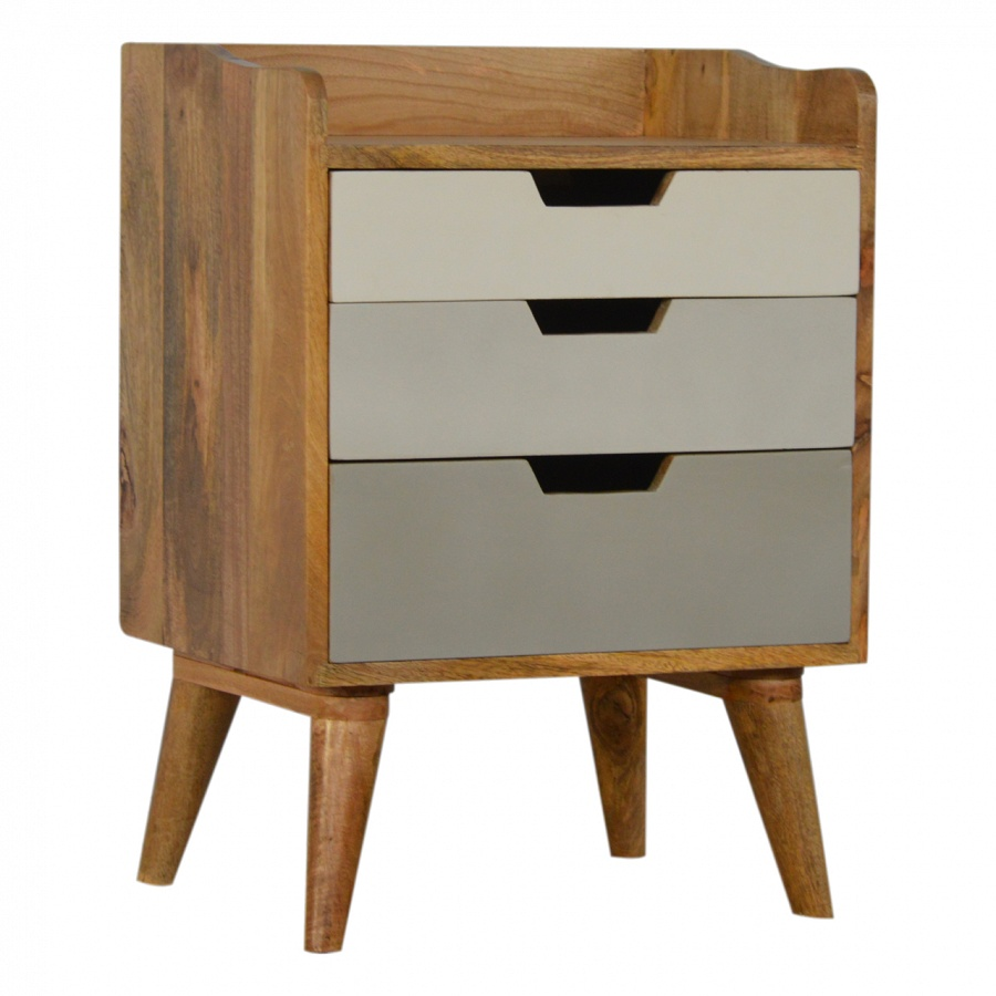 Mango Hill Bedside with 3 Drawer Painted Fronts
