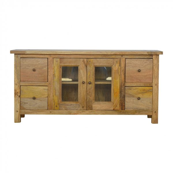 Mango Hill Media Unit with 4 Drawers and 2 Glazed Doors