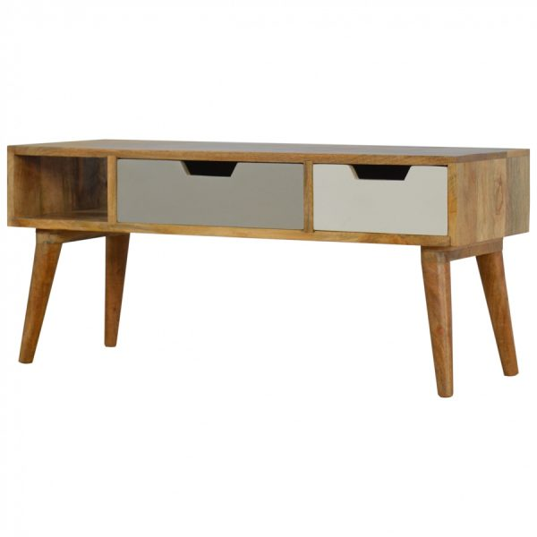 Mango Hill Media Unit with Painted Drawer Fronts