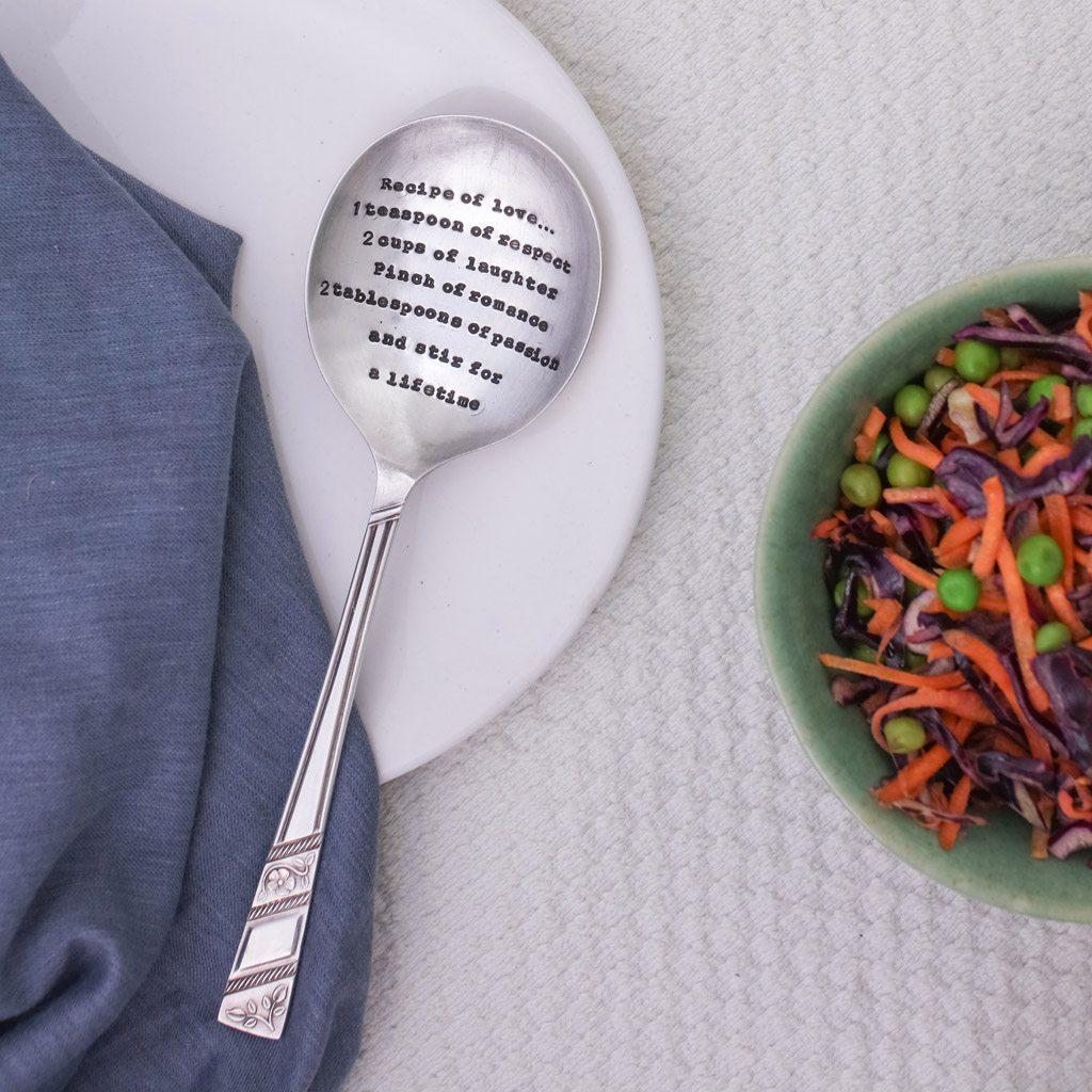 Serving Spoon - 'Recipe of Love'