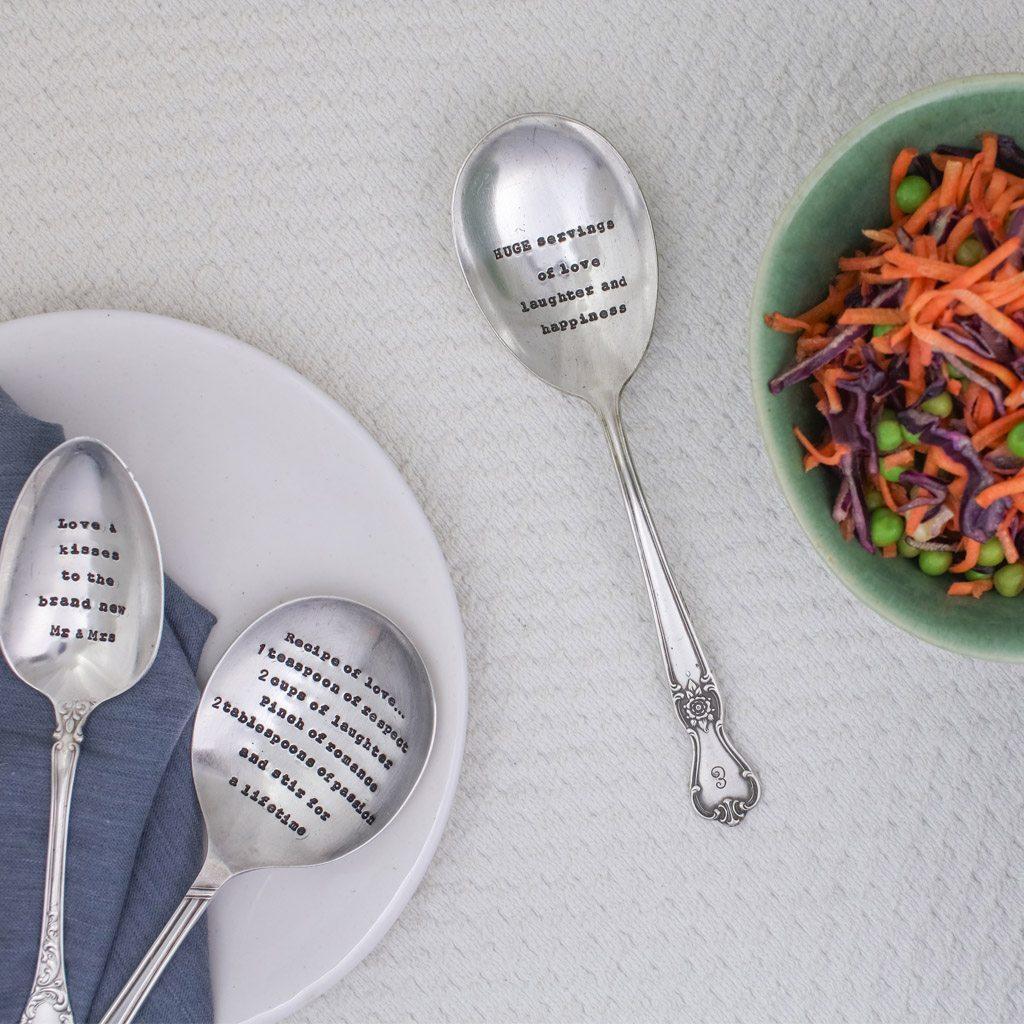 Serving Spoon – 'Recipe of Love'