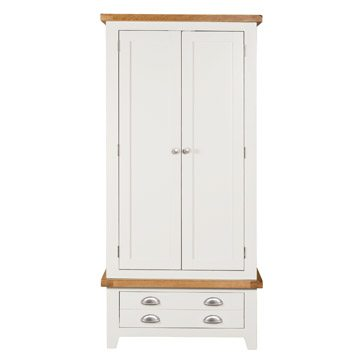 Willow White Double Wardrobe with Drawers