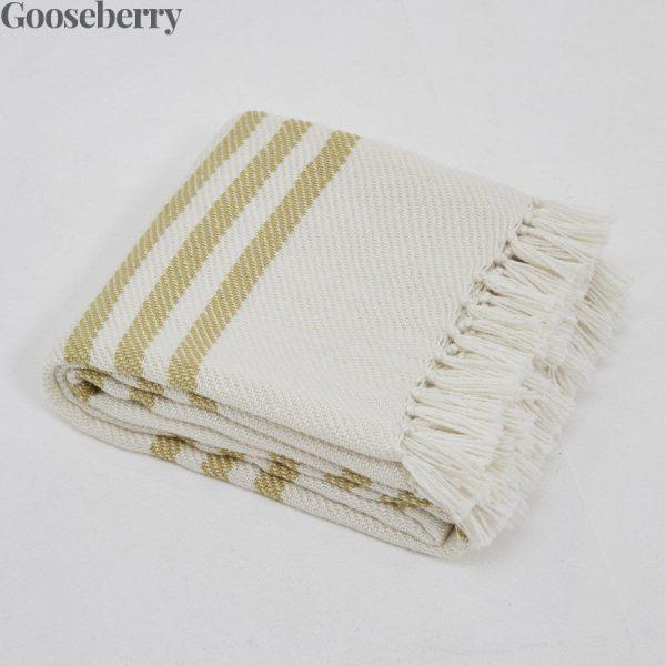 Classic Stripe Gooseberry Blanket