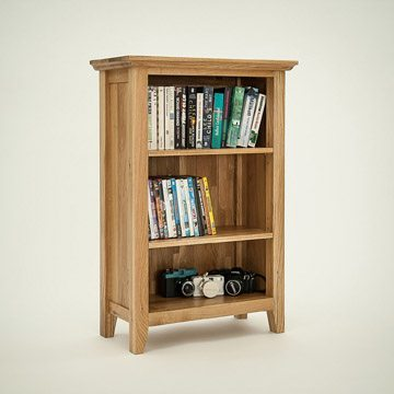 Hereford Rustic Oak 3ft x 2ft Bookcase