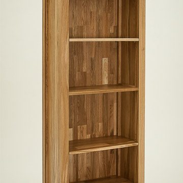Hereford Rustic Oak 4ft 6in x 2ft Bookcase