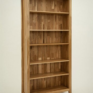 Hereford Rustic Oak 6ft x 3ft Bookcase